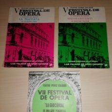 Libretos de ópera: PROGRAMAS OPERA TEATRO PÉREZ GALDÓS - 1972 Y 1974. Lote 210097245