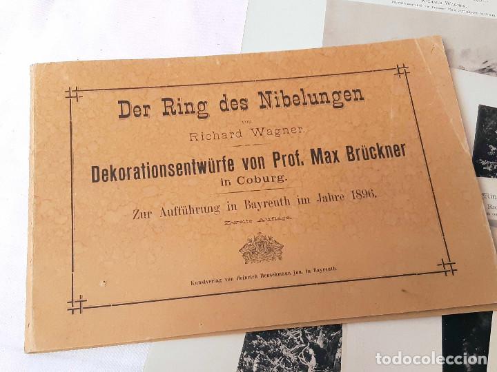 Libretos de ópera: Carpeta de fototipias con decorados de Der Ring des Nibelungen, Richard Wagner. Max Bruckner 1896 - Foto 2 - 213641823