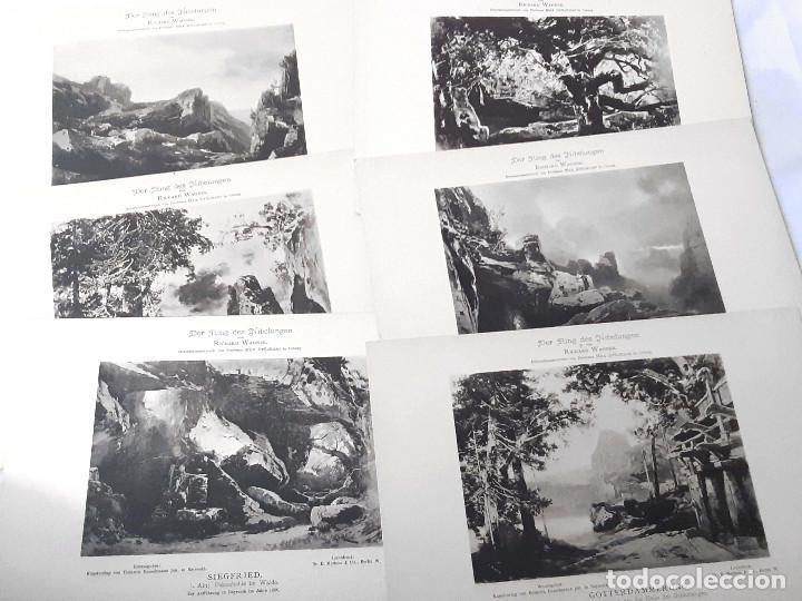 Libretos de ópera: Carpeta de fototipias con decorados de Der Ring des Nibelungen, Richard Wagner. Max Bruckner 1896 - Foto 4 - 213641823