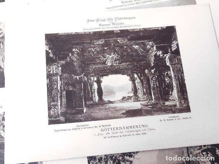 Libretos de ópera: Carpeta de fototipias con decorados de Der Ring des Nibelungen, Richard Wagner. Max Bruckner 1896 - Foto 5 - 213641823