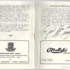 Libretos de ópera: PROGRAMA DEL GRAN TEATRO DEL LICEO MAYO 1952. FIRMA DE JOSÉ DE MOJICA.. Lote 222882031