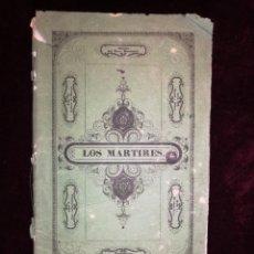 Libretti di opera: OPERA EN 4 ACTOS - LOS MÁRTIRES - GRAN TEATRO DEL LICEO - BARCELONA 1849. Lote 222908661