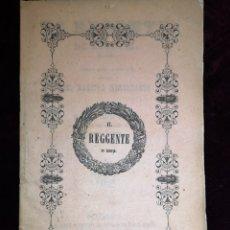 Libretti di opera: OPERA - EL REGENTE DE ESCOCIA - TRAGEDIA LÍRICA - GRAN TEATRO DEL LICEO - BARCELONA 1860. Lote 222912292
