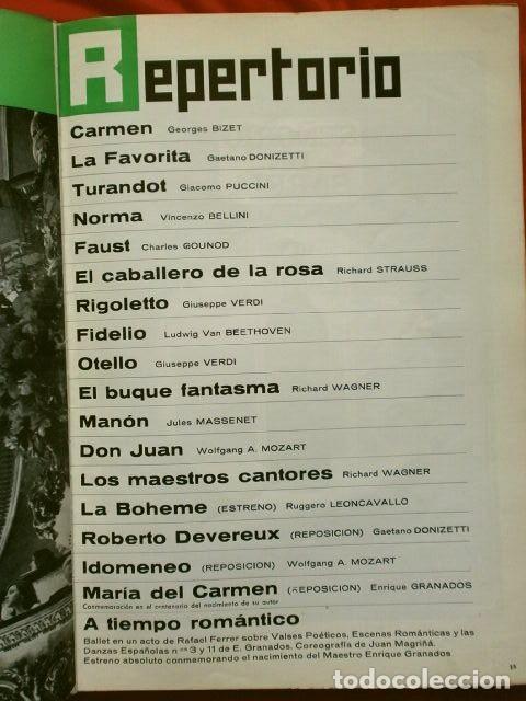 Libretos de ópera: GRAN TEATRO DEL LICEO (1966) VISION DE XX AÑOS DE ACTIVIDAD MUSICAL 1946-66 - JUAN A. PAMIAS - OPERA - Foto 3 - 224366382