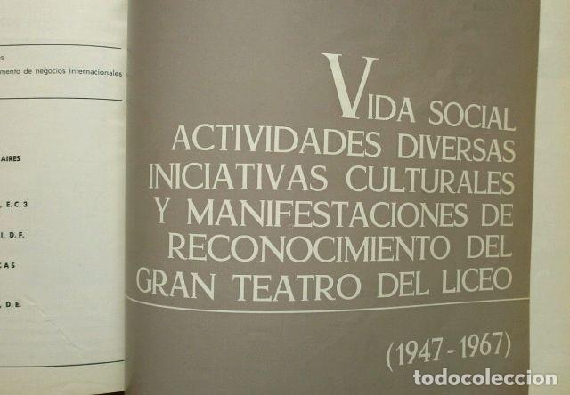 Libretos de ópera: GRAN TEATRO DEL LICEO (1966) VISION DE XX AÑOS DE ACTIVIDAD MUSICAL 1946-66 - JUAN A. PAMIAS - OPERA - Foto 8 - 224366382