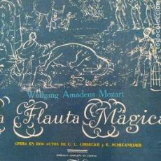 Libretos de ópera: VINILOS 12 DISCOS, 4 OPERAS,CARMEN,LA FLAUTA MAGICA,LAS BODAS DE FIGARO, Y RIGOLETTO.. Lote 229159548
