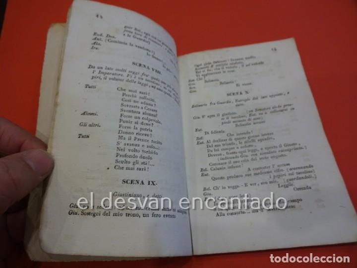 Libretos de ópera: BELISARIO. Libreto Tragedia lírica en tres partes. OPERA. Barcelona. Estampería Estivill. Año 1837 - Foto 3 - 229553325