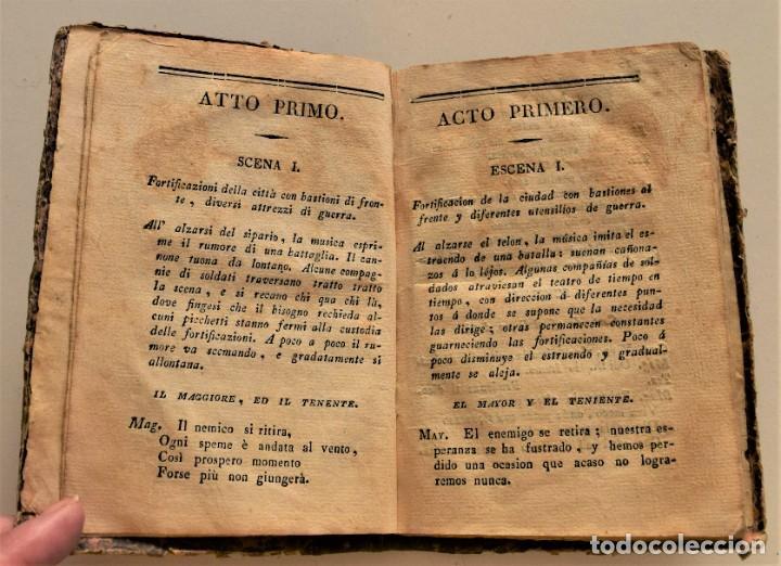 Libretos de ópera: IL POSTO ABBANDONATO - EL PUESTO ABANDONADO - LIBRETO BILINGÜE ÓPERA DE MERCADANTE AÑO 1827 - Foto 5 - 230274010