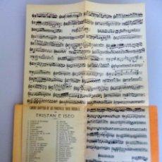 Libretti di opera: RICARDO WAGNER // TRISTAN E ISEO // 1911 // TRAD. POR LUIS PARIS. Lote 233956145