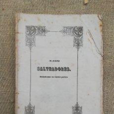 Libretos de ópera: LOS SALTEADORES (LIBRETO) -1857 -TEATRO DE LA M.I.N. Y L. CIUDAD DE PALMA (MALLORCA) - PJRB. Lote 235383755