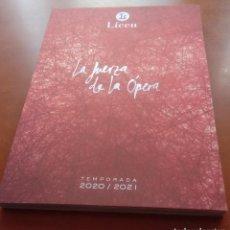 Libretos de ópera: LIBRO PROGRAMA TEATRO LICEO LICEU BARCELONA LA FUERZA DE LA ÓPERA. TEMPORADA 2020/2021. 240 PG. Lote 235565505