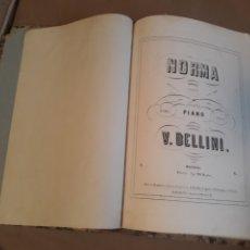 Libretos de ópera: NORMA . OPERA PARA PIANO . V. BELLINI . MADRID B.ESLAVA.. Lote 236121710