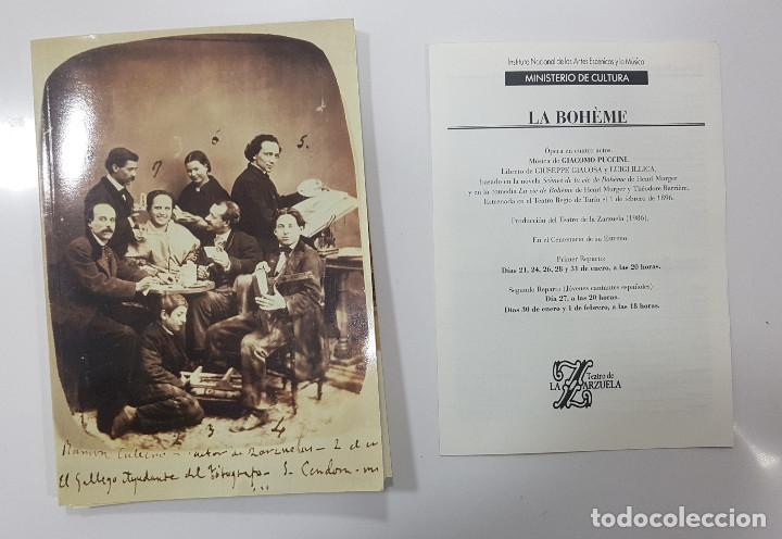 Libretos de ópera: LA BOHÊME. CRONICA DE LA BOHEMIA, PUCCINI EN ESPAÑA, LIBRETO TEATRO DE LA ZARZUELA 1996, CENTENARIO - Foto 15 - 236382645