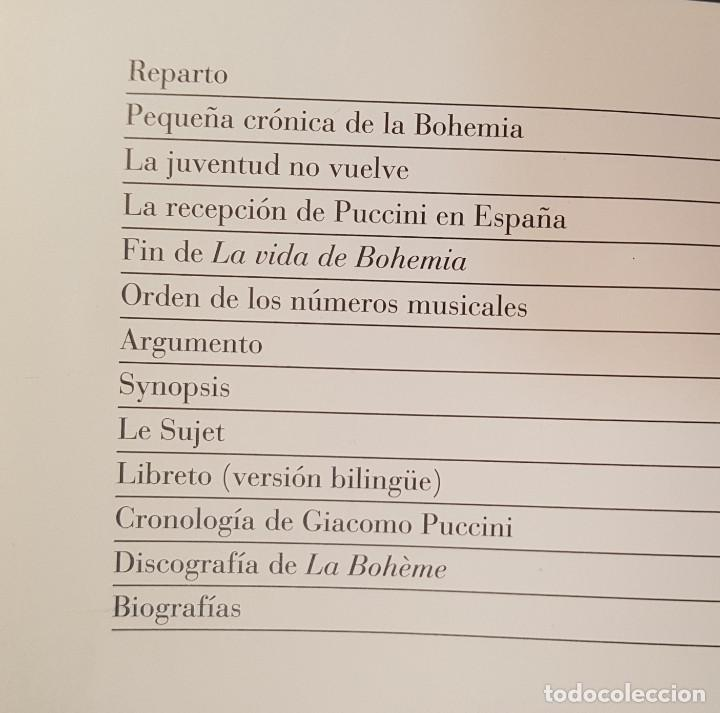 Libretos de ópera: LA BOHÊME. CRONICA DE LA BOHEMIA, PUCCINI EN ESPAÑA, LIBRETO TEATRO DE LA ZARZUELA 1996, CENTENARIO - Foto 2 - 236382645