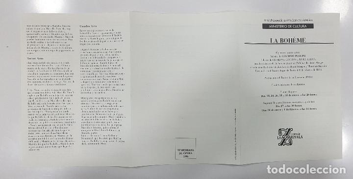 Libretos de ópera: LA BOHÊME. CRONICA DE LA BOHEMIA, PUCCINI EN ESPAÑA, LIBRETO TEATRO DE LA ZARZUELA 1996, CENTENARIO - Foto 14 - 236382645