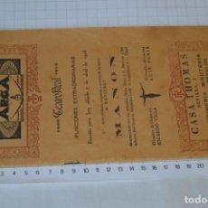 Libretos de ópera: AÑO 1923 / PROGRAMA ORIGINAL 32 PÁGINAS / TEATRO REAL 07-ABRIL-1923 / OPERA DE MASSENET MANON ¡MIRA!. Lote 238774945