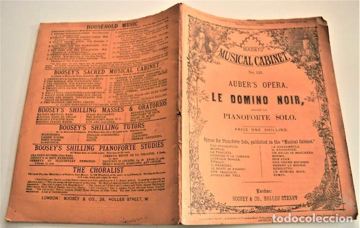 Libretos de ópera: ARREGLO PARA PIANOFORTE SOLO DE LA ÓPERA CÓMICA LE DOMINO NOIR - AUBER´S OPERA - BOOSEY / CO. LONDON - Foto 2 - 239536655