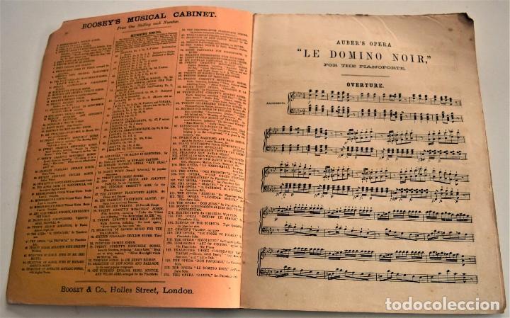 Libretos de ópera: ARREGLO PARA PIANOFORTE SOLO DE LA ÓPERA CÓMICA LE DOMINO NOIR - AUBER´S OPERA - BOOSEY / CO. LONDON - Foto 3 - 239536655