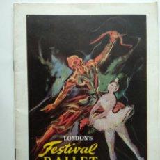 Livrets d'opéra: TEATRO IRIS, ZARAGOZA. TEMPORADA 1955 - LONDONS FESTIVAL DE BALLET - PROGRAMA.. Lote 240624495