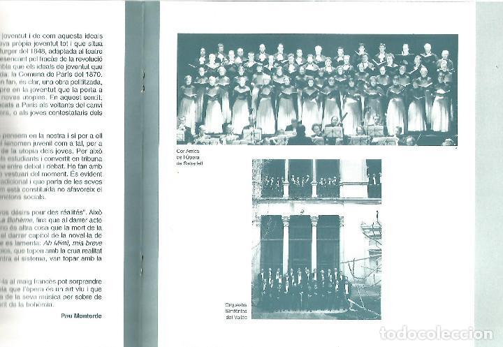 Libretos de ópera: PROGRAMA Y FOLLETO GUIA LA BOHEME OPERA GIACOMO PUCCINI GRAN TEATRE DEL LICEO DE BARCELONA - Foto 3 - 243794175