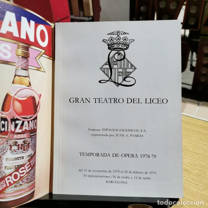 Libretos de ópera: REVISTA - GRAN TEATRO DEL LICEO - TEMPORADA DE OPERA 1978-79 / 13.677 - Foto 3 - 244676660
