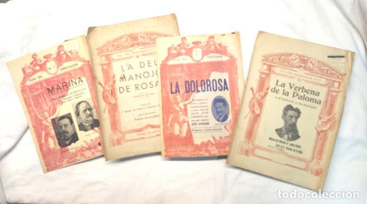 GUIA DEL ESPECTADOR CANCIONERO MARINA, LA DEL MANOJO DE ROSAS, LA DOLOROSA Y LA VERBENA DE LA PALOMA (Música - Libretos de Opera)