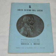 Livrets d'opéra: GRAN TEATRO DEL LICEO - BARCELONA / PROGRAMA ORIGINAL 48 PÁGINAS / TEMPORADA INVIERNO 1955-56 ¡MIRA!. Lote 245283560