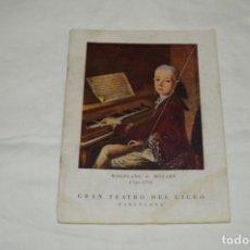 Livrets d'opéra: GRAN TEATRO DEL LICEO - BARCELONA / PROGRAMA ORIGINAL 64 PÁGINAS / AÑOS 1955-56 ¡MIRA!. Lote 245284780