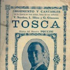 Libretos de ópera: 1930/40 LOTE DE 9 ARGUMENTOS Y CANTABLES DE OPERA Y ZARZUELAS, TOSCA, MARINA, ZOROZÁBAL, J. SERRANO. Lote 246788860