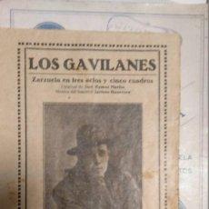 Libretti di opera: LOS GAVILANES. Lote 248610890