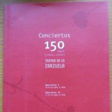 Libretos de ópera: LOTE DE 11 PROGRAMAS DEL TEATRO DE LA ZARZUELA.. Lote 278207993