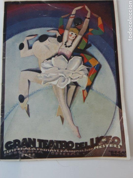 PROGRAMA DE EL LICEO 1928. CATALOGO. BAILES VIENESES (Música - Libretos de Opera)