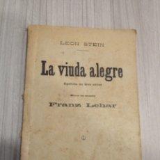 Libretos de ópera: LIBRETO DE OPERETA LA VIUDA ALEGRE. 1919.. Lote 292203808