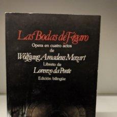 Libretos de ópera: LIBRETO EN EDICIÓN BILINGÜE DE LAS BODAS DE FIGARO DE MOZART .. Lote 296728383