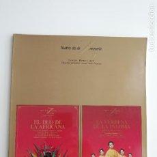 Libretos de ópera: LIBRETO-PROGRAMA DE MANO EL DÚO DE LA AFRICANA/LA VERBENA DE LA PALOMA TEATRO DE LA ZARZUELA 1984/85. Lote 296732163