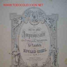 Partituras musicales: EDVARD GRIEG, OP.29. IMPROVISATA ÜBER 2 NORWEGISCHE VOLKSEISEN FÜR PIANOFORTE. PARTITURA. Lote 20247253