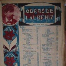 Partituras musicales: I. ALBÉNIZ : MALLORCA, BARCAROLA. UNIÓN MUSICAL ESPAÑOLA. PIANO SOLO. DANZAS ESPAÑOLAS.. Lote 3805762