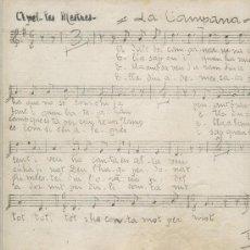 Partituras musicales: PARTITURA DE LA PAMPANERA I EL CUC SAVI. DE APEL.LES MESTRES. ORFEO GRACIENC. 1933.APELES MESTRES. Lote 7572675
