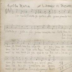 Partituras musicales: PARTITURA DE CAMPS A TRAVES. DE APELES MESTRES. AÑO 1933. ORFEO GRACIENC.CANCION INFANTIL. Lote 7572678