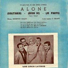 Partituras musicales: PARTITURA DE LA CANCION SOLITARIO CINCO LATINOS. Lote 4917392