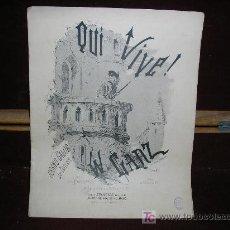 Partituras musicales: QUI VIVE! W.GANZ. GRAND GALLOP DE CONCERT PUR PIANO. EDIT.HAMELLE. GRABADO DE BARBIZET. Lote 26931842