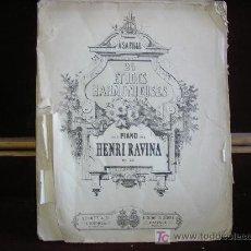 Partituras musicales: 25 ETUDES HARMONIEUSES POUR PIANO PAR HENRI RAVINA.OP.50.SCHOTT. CIRCA 1840. RARA PARTITURA.. Lote 26671152