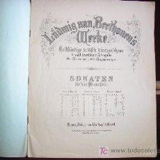 Partituras musicales: SONATEN. BEETHOVEN. BREITKOPF & HARTEL. CIRCA 1900. Lote 26720607