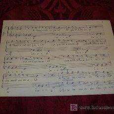 Partituras musicales: PARTITURA ESCRITA A MANO, S ES MORT UN ESCOLA ,MONTSERRAT. Lote 10227253