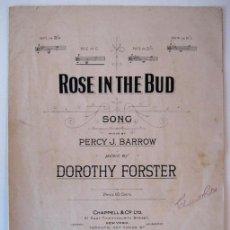 Partituras musicales: CANCIÓN ROSE IN THE BUD, POR DOROTHY FOSTER - EDITADA POR CHAPPELL & CO., N. YORK - AÑO 1907. Lote 27582685