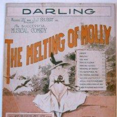 Partituras musicales: CANCIÓN DARLING, DEL MUSICAL THE MELTING OF MOLLY - EDITADA POR SHAPIRO, BERNSTEIN & CO. - 1918. Lote 27582689