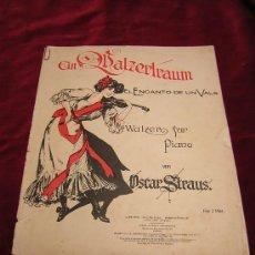 Partituras musicales: EL ENCANTO DE UN VALS.OSCAR STRAUS.UNION MUSICAL ESPAÑOLA.WALZER FUR PIANO.. Lote 26876957