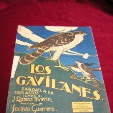 Partituras musicales: LOS GAVILANES.ZARZUELA.Nº3 FOXTROT.MUSICA DE J.GUERRERO,LETRA DE J.RAMOS MARTIN. Lote 21212692