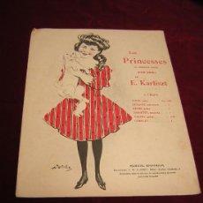 Partituras musicales: LES PRINCESSES DE E.KARLISZT.JORGETTE.MAZURKA.PRECIOSA PORTADA DE NIÑA CON PERRITO.. Lote 24448074