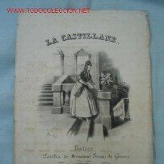 Partituras musicales: PARTITURA SIGLO XIX. Lote 13530505